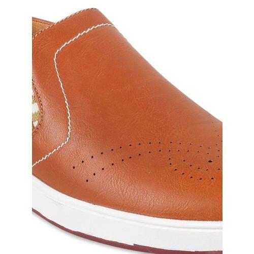 6899b32e56265 Buy Metro Men Tan Brown Slip-On Sneakers online