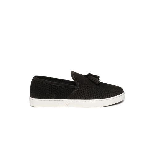 Blackberrys Men Charcoal Grey Slip-On Sneakers