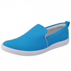 Fausto MenS Light Blue Casual Loafers