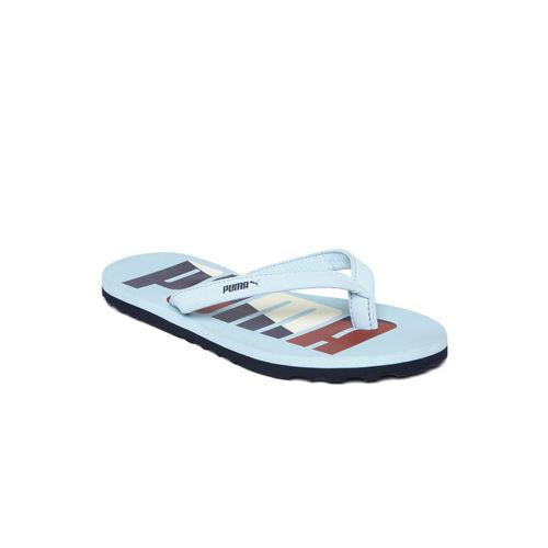 Puma Women Blue & Off-White Ronni V2 IDP Printed Thong Flip-Flops