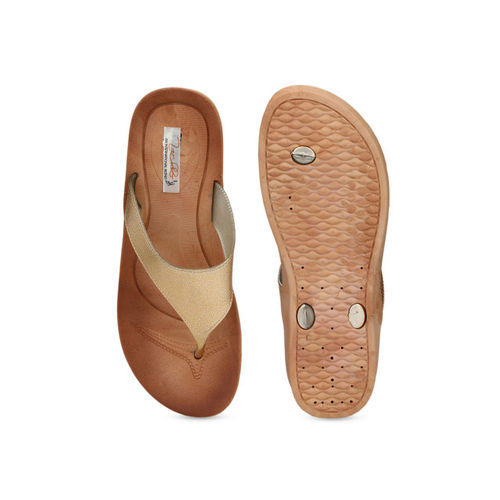 Zachho Women Gold-Toned Solid Sandals
