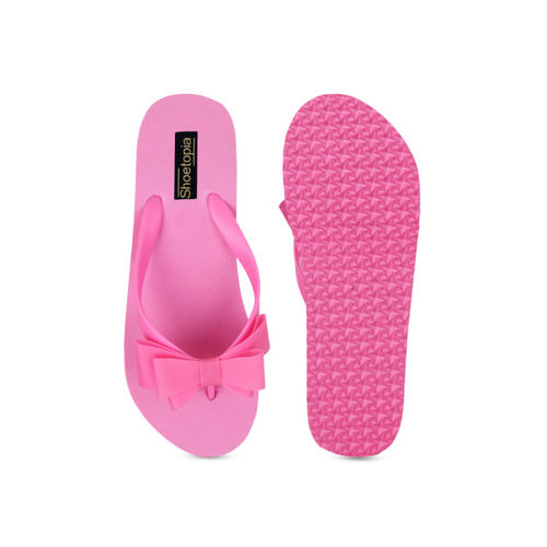 Shoetopia Women Pink Solid Thong Flip-Flops