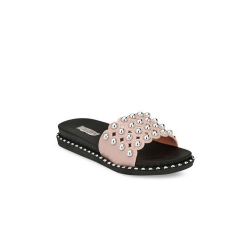 Zachho Pink Embellished Slip-On flipflops