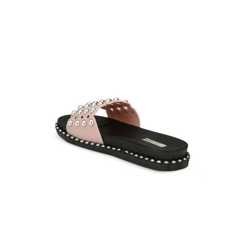 Zachho Pink Embellished Slip-On flipflops