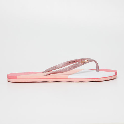 Ginger by Lifestyle Pink Embellished Thong Flip-Flops