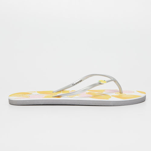 Ginger by Lifestyle Women Yellow Printed Thong Flip-Flops