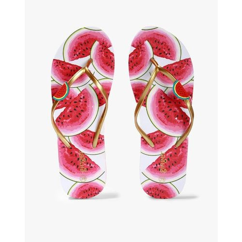 53777eebec71 Buy Ginger by Lifestyle Women Pink Printed Thong Flip-Flops online ...