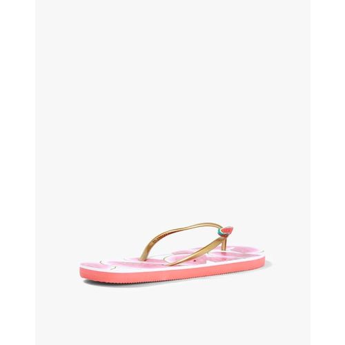 Ginger by Lifestyle Women Pink Printed Thong Flip-Flops