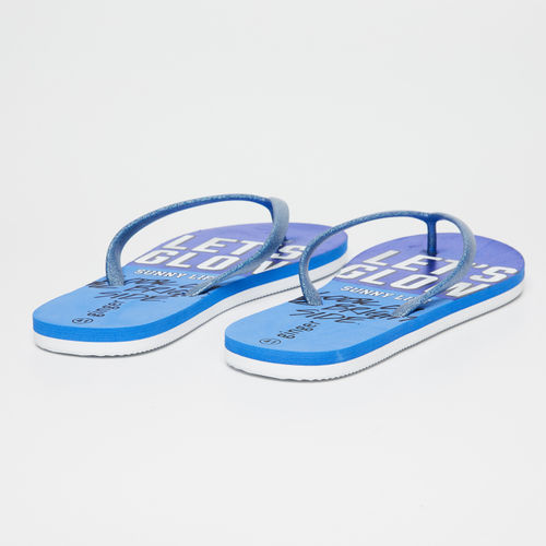 Ginger by Lifestyle Women Blue Thong Flip-Flops