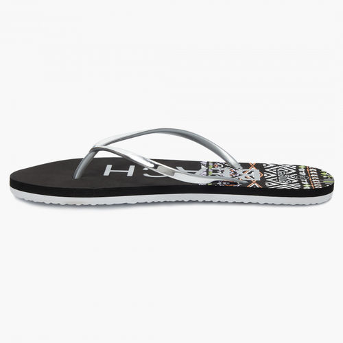 Ginger by Lifestyle Silver-Toned Thong Flip-Flops