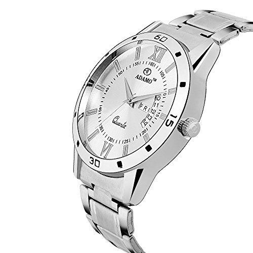 ADAMO Designer Silver Dial Men's Wrist Watch A812SM09