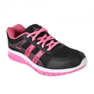 Chevit Women's Black & Pink Sports Shoes
