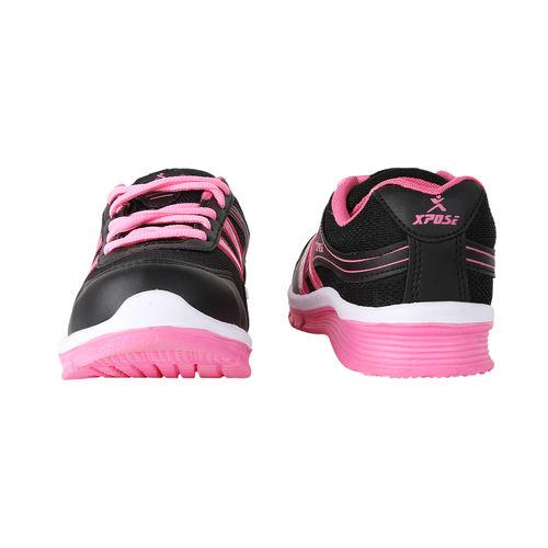Chevit Women's Black & Pink Sports Shoes