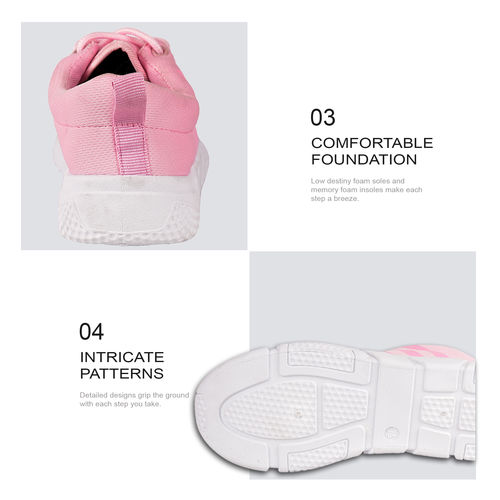 12e0241dee8 Buy DRUNKEN Women s Sports Mesh Pink Running Shoes