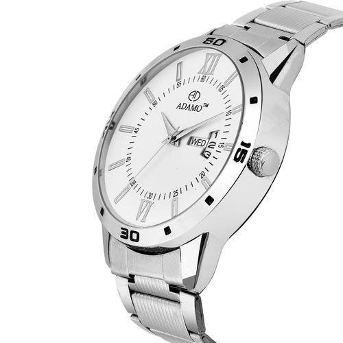 ADAMO Designer White Dial Men's Wrist Watch A812SM01