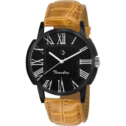 Timebre GXBLK504 Black Dial Watch - For Men