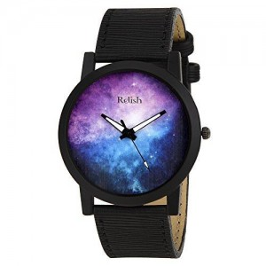 RELISH RE-S8067BB Black Slim Analog Watches for Men's and Boy's