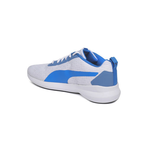 Puma Men White & Blue Player v2 IDP Sneakers