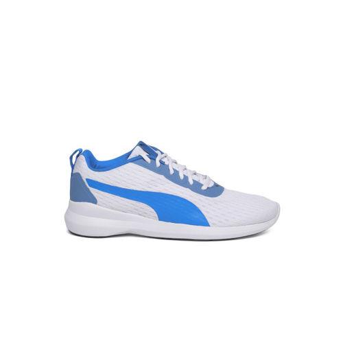 Puma Men White & Blue Player v2 IDP Sneakers