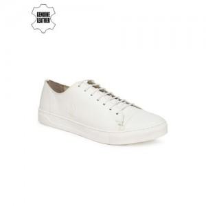 U.S. Polo Assn. Men White Byron Leather Sneakers