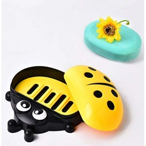Lady Bug Yellow Soap Dish Holder for Kids Bathroom Dcor