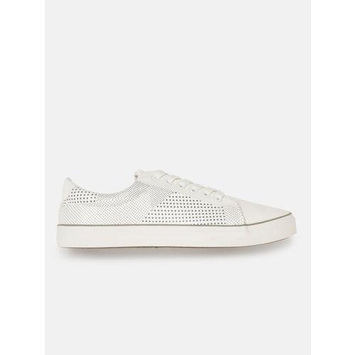 Mast & Harbour Men White Printed Sneakers