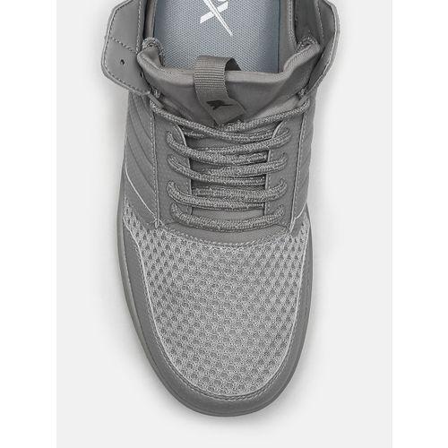 HRX by Hrithik Roshan Men Grey Solid Hoop Life Sneakers