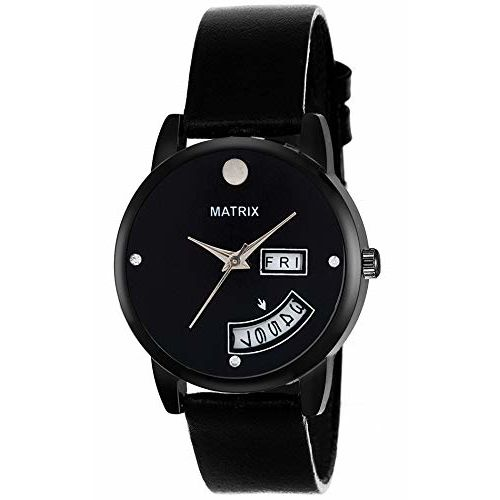 Matrix Analog Black Dial Day and Date Display Wrist Watch for Woen/Girls(WN-DD-1)