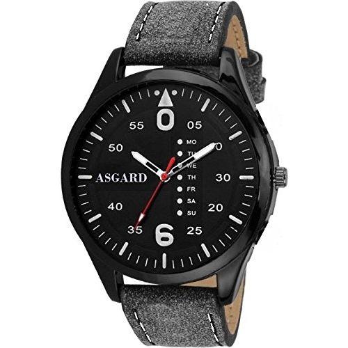 ASGARD Classy Black Dial Watch for Men, Boys-BK-BK-96