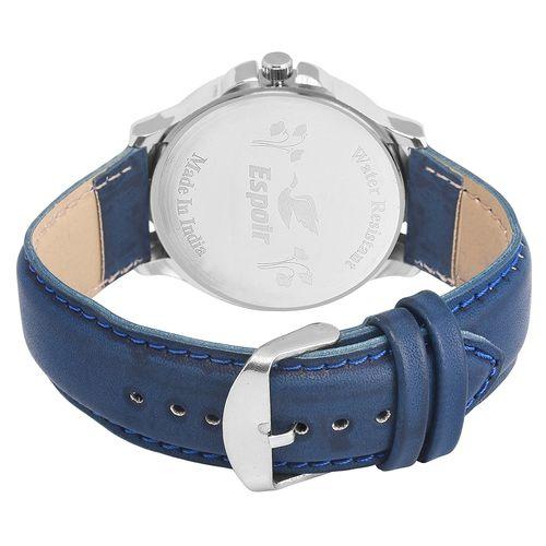 Espoir Analogue Blue Dial Men's Watch- Roman0507