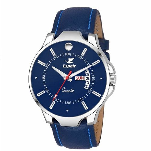 Espoir Analogue Blue Dial Day and Date Men's Boy's Watch - NailStrap0507