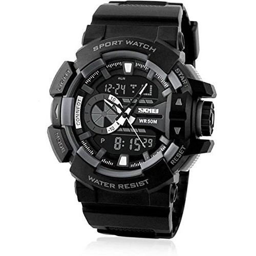 Generic Black Analogue-Digital Black Dial Watch (Ad1117)