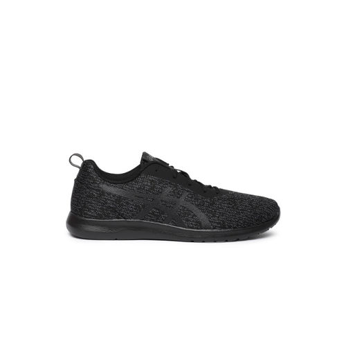 ASICS KANMEI 2 Black Synthetic Lace Up Running Shoes