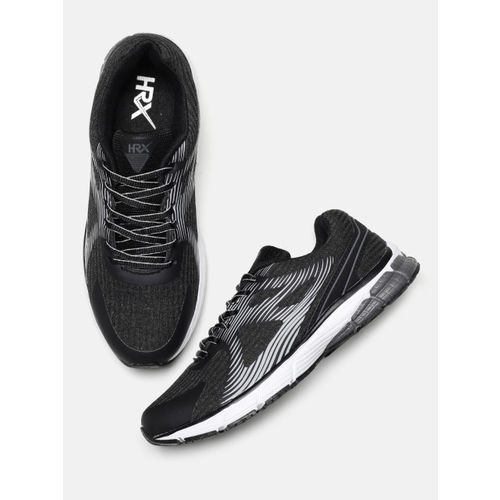 5e299b7b4 Buy HRX by Hrithik Roshan Men Impact Series Black Running Shoes ...