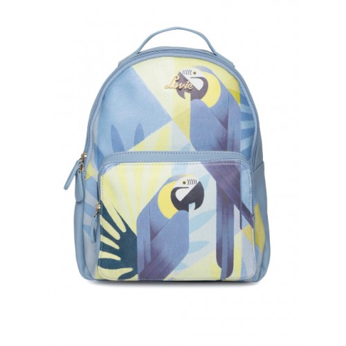 Lavie Blue Polyurethane Graphic Backpack