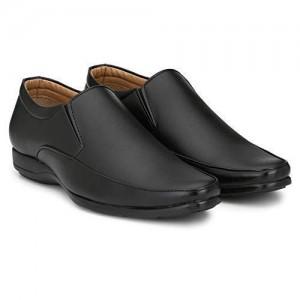 Anshul Fashion Black Leather Slip On Formal Shoes