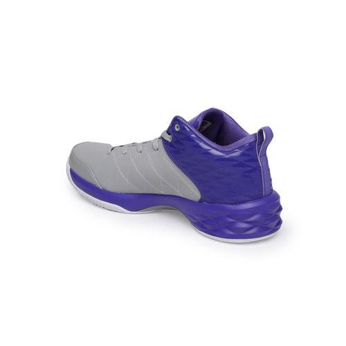 PEAK Men Grey Basketball Shoes