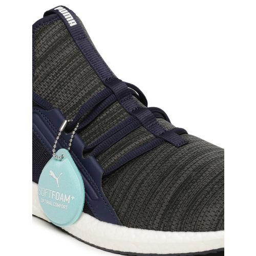 Puma Men Navy Blue Mega NRGY Heather Knit Running Shoes