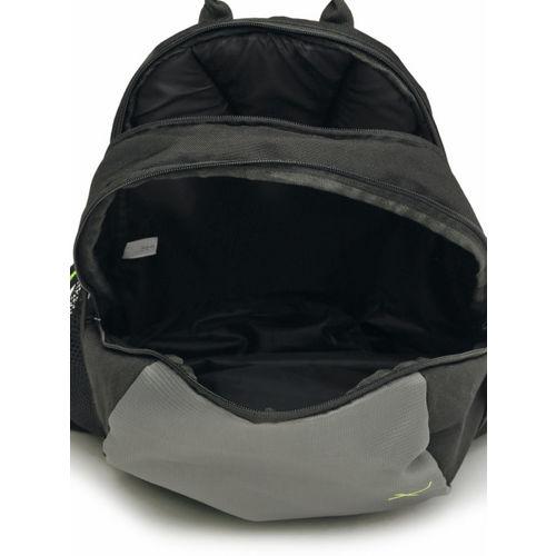 HRX by Hrithik Roshan Unisex Black & Grey Printed Backpack
