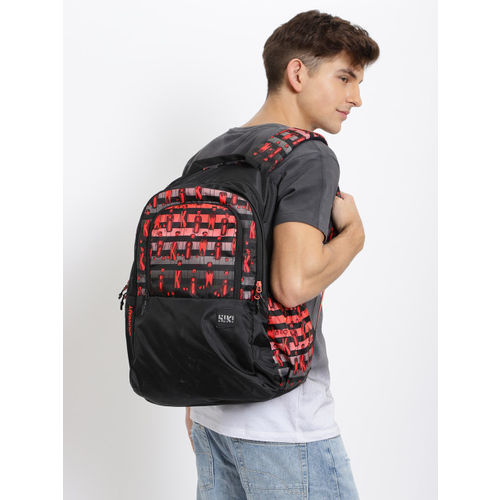 Wildcraft Unisex Black Graphic Printed WIKI 2 Character Backpack