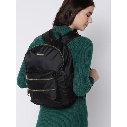 DressBerry Women Black Solid Backpack