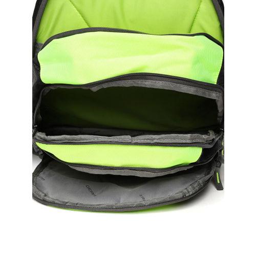 Gear Unisex Black & Green Colourblocked Backpack