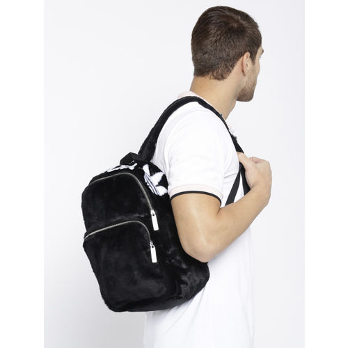 ADIDAS Originals Unisex Black Classic S Faux Fur Backpack