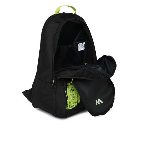 Wildcraft Unisex Black Graphic Pluto Backpack