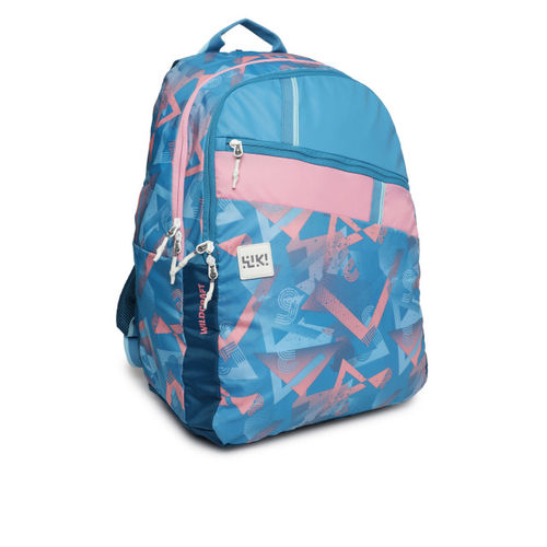 Wildcraft Blue & Pink Graphic Backpack