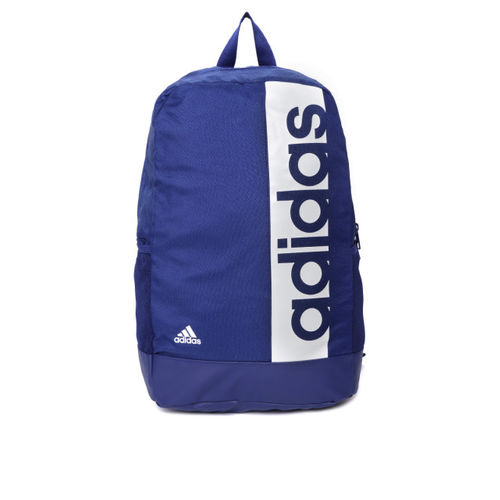 ADIDAS Unisex Blue Lin Per Brand Print Backpack