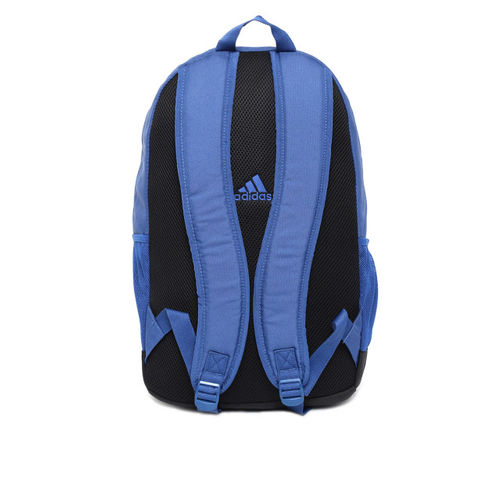 ADIDAS Unisex Blue Solid Classic Logo 2 Compartment Backpack