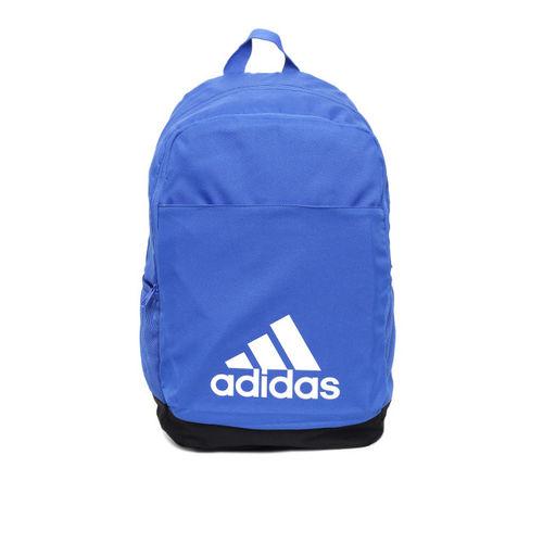 ADIDAS Unisex Blue Solid Classic Logo Laptop Backpack