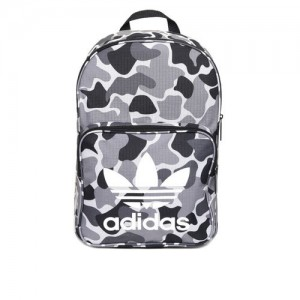 ADIDAS Originals Unisex Grey & Black Classic Camouflage Print Backpack