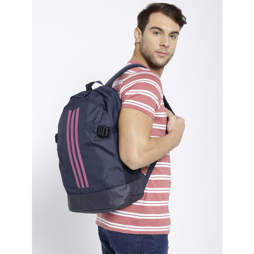 ADIDAS Unisex Navy Blue Power IV M Striped Backpack